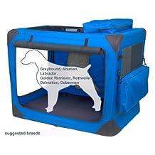 Valentina Valentti XXL Dog Folding Canvas Carrier Transport Soft Crate Blue V8