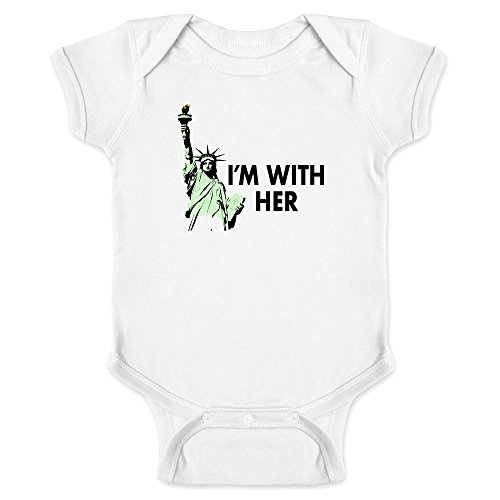 Pop Threads Statue Of Liberty I'm With Her White 12M Infant - Ban Liberty