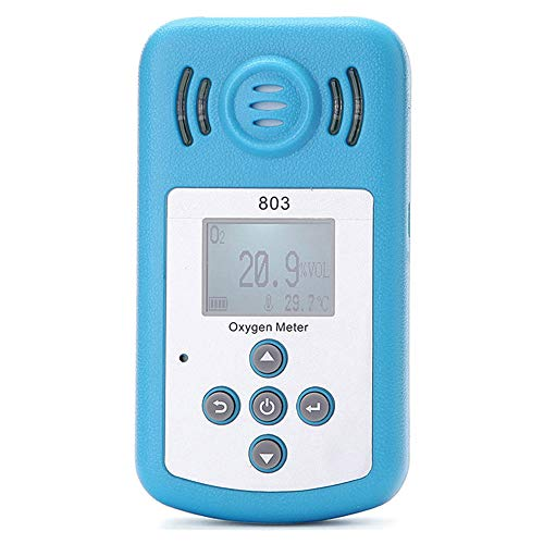 Oxygen Detector, KKmoon Oxygen Meter Portable Oxygen(O2) Concentration Detector with LCD Display and Sound-light Alarm