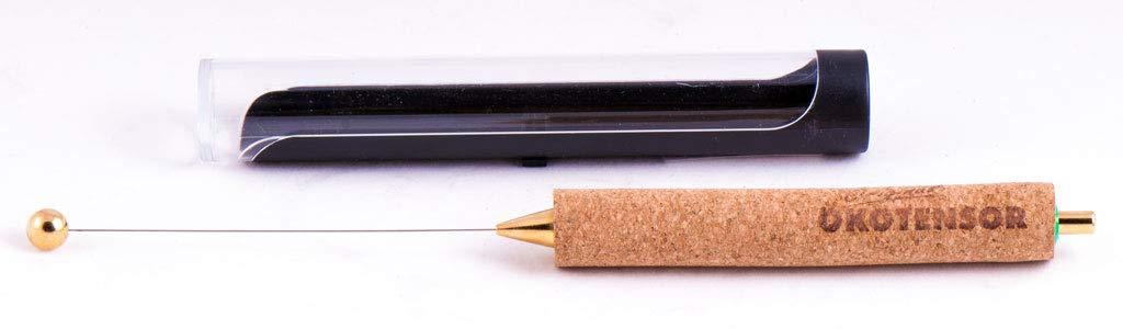 dsnetz con Manico in Sughero e Custodia Protettiva per Viaggi Mini Antenna epossidica Ideale Come Regalo Esotico Fino a 24,5 cm