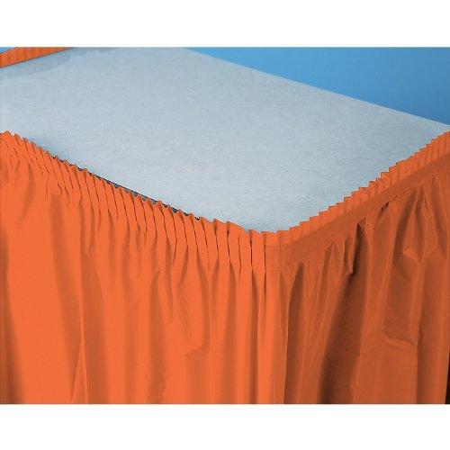Plastic Table Skirt Orange