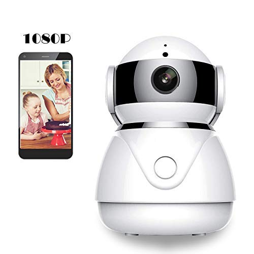 BESDERSEC WiFi Security Camera, Pro HD 1080P Home Security IP Camera Night Vision Compatible Echo Dot Remote Surveillance Camera Baby Pet Monitor Motion Detection Two-Way Audio Pan/Tilt