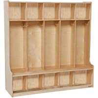 Wood Designs 5-Section Kids Seat Locker