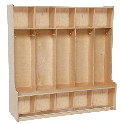 Wood Designs 5-Section Kids Seat (Five Section Locker)