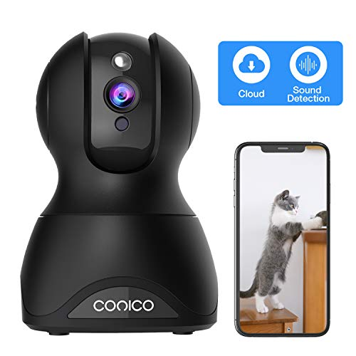 Pet Dog Camera, Conico 1080p Wireless IP Home Security Camera WiFi Baby Monitor with Cloud Storage Sound Motion Detect Two Way Audio Night Vision Remote View
