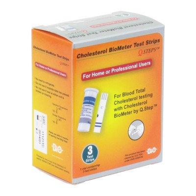 Q. étapes cholestérol Biometer cholestérol bandelettes de test (Set de 6)