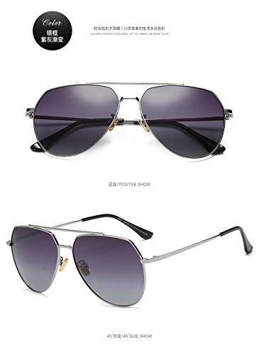 sol gafas gran Gafas gradual de de gafas C1 la los tamaño cuadrados Hombre nuevos Estados de polarizadas Gris y de las Europa hombres de sol 2018 bastidor polarizadas de de Anteojos Unidos qSCCBIxwP