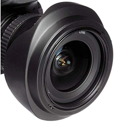 Leica V-LUX 4 Pro Digital Lens Hood 52mm Flower Design + Nwv Direct Microfiber Cleaning Cloth.