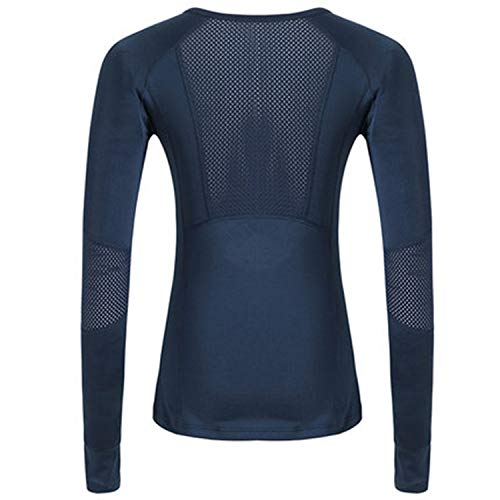 Pink mesh Women's Shirt Quick Dry Sports wear for Women Long Sleeve Privacy Femme Sport top Slim Gym Shirt,ny,L