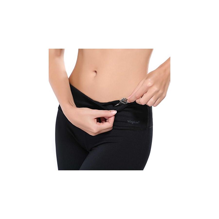 WingsLove Women's Yoga Pants Flex Running Yoga Leggings Tummy Control Mid Waist