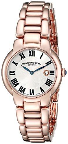 Raymond Weil Women's 5229-P5-01659 Jasmine Analog Display Swiss Quartz Rose Gold Watch