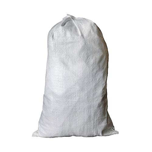 BISupply Polypropylene Sandbags 100 Pack Empty Sand Bags for Flood Control Canopy Tent Weights, 14in x 26in
