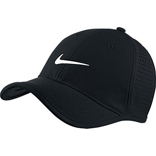 Nike Herren Golfkappe Ultralight Tour Perforated, black/white, One Size, 727034-010