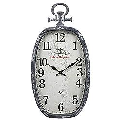 huaxiazu European Wall Clock Creative Oval Pocket Watch Wall Clock Living Room Bedroom Mute Clock Hotel Restaurant Home Fashion Wall Clock