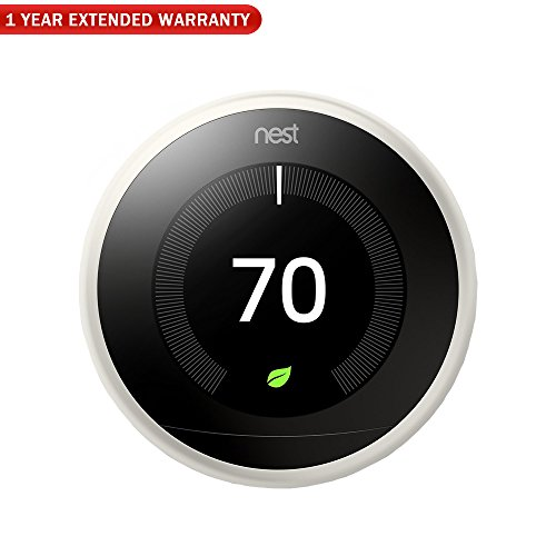 Nest (T3017US 3rd Generation Learning Thermostat - White + 1