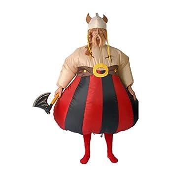 Disfraz de Obélix / Vikingo gordo, Hinchable. Talla única ...