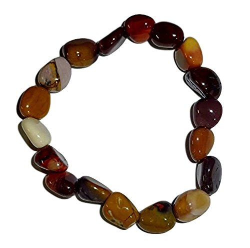 - 1pc Mookaite Jasper Premium Quality Tumbled Stones Crystal Healing Gemstone 6-8 Mm Nugget Beaded Stretch Bracelet