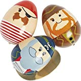 Fun Express Plastic Pirate Easter Eggs - 12 Pieces