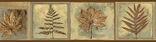 Chesapeake BBC35604B Fringe Sand Fern Leaf Portrait Wallpaper Border, Brown