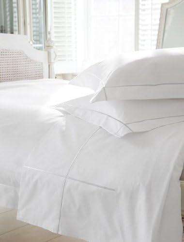 500 Hilos de algodón Egipcio Blanco Oxford Funda de Almohada 50 x 90: Amazon.es: Hogar