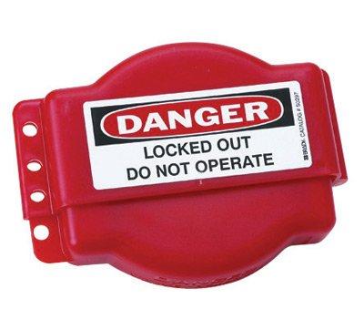 Brady® Red Durable Polypropylene Adjustable Gate Valve Lockout
