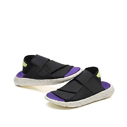 Peggie House Tamaño al aire libre de las sandalias de la caminata: 35-44 Negro & Morado