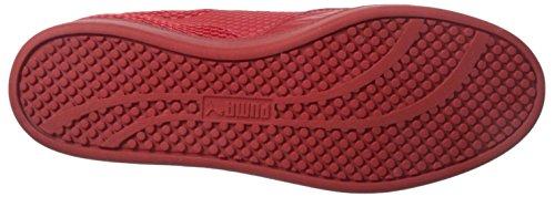 Puma Partido Mín tartamudeo raya Lowtop la zapatilla de deporte High Risk Red/Gray Violet