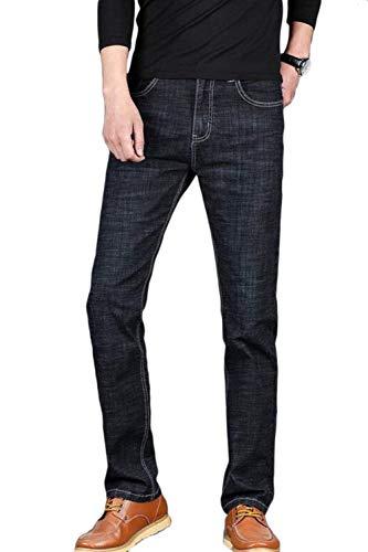 Pantaloni Casuali retro Casual Moda Jeans Lungo Hosen Lblack Fashion Classiche Dritto Uomini Denim Business Laisla Ragazzi qxOn7g1H