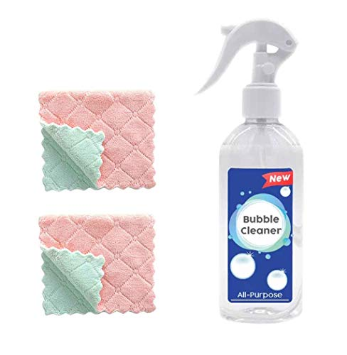 JonerytimeKitchen Grease Cleaner Multi-Purpose Foam Cleaner All-Purpose Bubble Cleaner with Cleaning Towel 200ml (1PC +2 x Cleaning Towel) from Jonerytime_ Home & Garden
