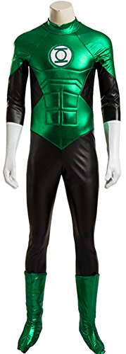 Adult Halloween Deluxe 1:1 Green Lantern Costume Outfit Jumpsuits