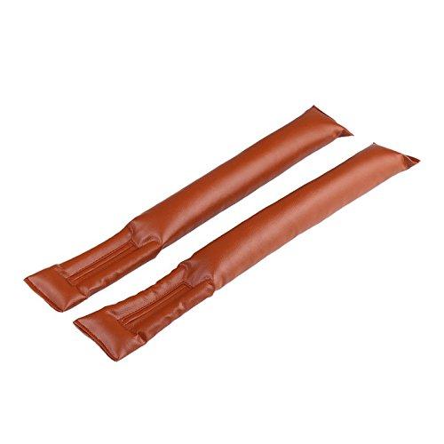 NAT 2Pcs Automotive Car Vehicle Seat Hand Brake Gap Filler Pad Spacer PU Leather(Brown)