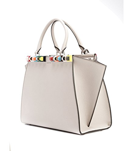 Fendi-3Jours-Studded-Calfskin-Leather-Shopper-Grey-Italy-Bag-New