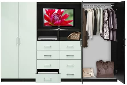 Amazon.com: Aventa TV Wall Unit for Bedrooms - Bedroom Wall ...