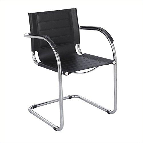 Scranton & Co Guest Chair Black Leather in Black