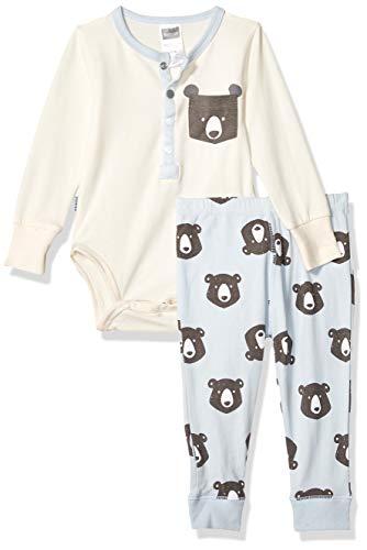 Kushies Baby Boys Pants Bodysuit Set, Blue 9m
