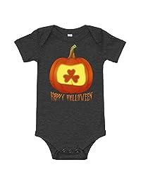 Amazingly Good Products Irish Shamrock Halloween Pumpkin Jack o Lantern Costume T-Shirt