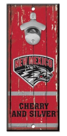 5 x 11 WinCraft NCAA University New Mexico Wood Bottle Opener Sign Multicolor