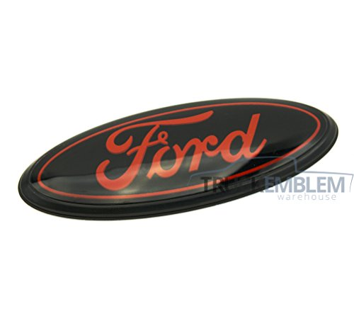1 NEW CUSTOM BLACK & RED 99-04 F250, F350, F450, F550, EXCURSION POWER STROKE SUPER DUTY GRILL EMBLEM