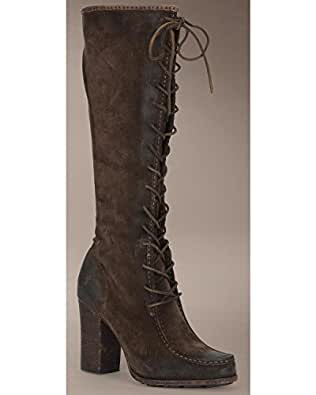 Amazon Com Frye Women S Parker Moc Tall Boot Charcoal