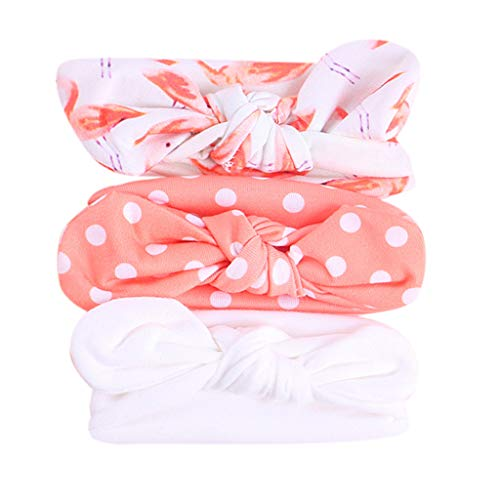 3Pcs Hairbands for Baby Girls Shusuen Floral Headband Elastic Bowknot Kids Headband Photography Sets White - Helmet Ea Chargers