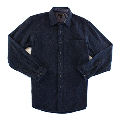 Club Room Navy Mens Large Button Down Wool Overshirt Blue L