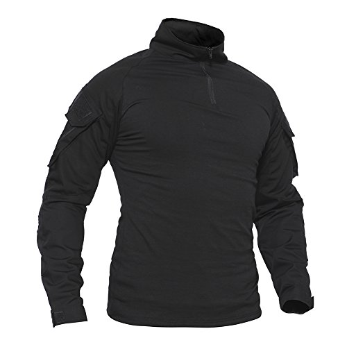 TACVASEN Mens Tactical Digital Camo Tactical Assault Long Sleeve T-Shirt Tops - Mens Tactical Uniform