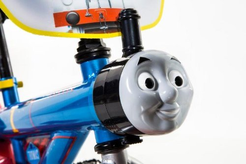 Dynacraft Thomas The Train Boys Bike with Realistic Sounds 14'', Blue/Red/Black by Nickelodeon (Image #2)