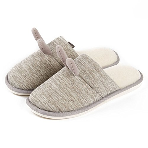 Slippers DWW Cotton Indoor Indoors Floor Thick Warm Non-Slip Shoes Handmade Pattern 3