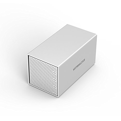 Yottamaster Aluminum Alloy 4 Bay 3.5'' USB3.1 Type C External Hard Drive Enclosure for 3.5 Inch HDD SATA3.0 Support 4 x 10TB & UASP -Silver by Yottamaster