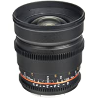 Bower SLY16VDFXB Wide Angle High-Speed 16mm T/2.2 Cine Lens for Fuji X Video Cameras (Black)