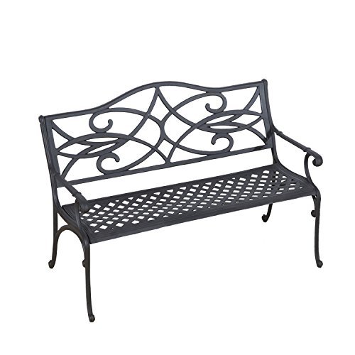 outsunny 49 decorative outdoor garden bench outdoor benches patio and furniture. Black Bedroom Furniture Sets. Home Design Ideas