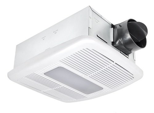 Delta BreezRadiance RAD80LED 80 CFM Exhaust Bath Fan/Dimmable LED Light and Heater - Metal Bath Fan