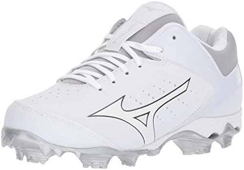 Mizuno Women's 9-Spike Advanced Finch Elite 3 Fastpitch Cleat Softball Shoe, White/White, 8 B US