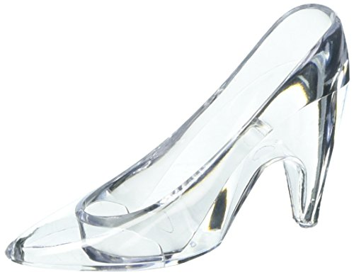 Darice Victoria Lynn Slipper Favor Clear Acrylic, 3.5 inches, 24 pieces -